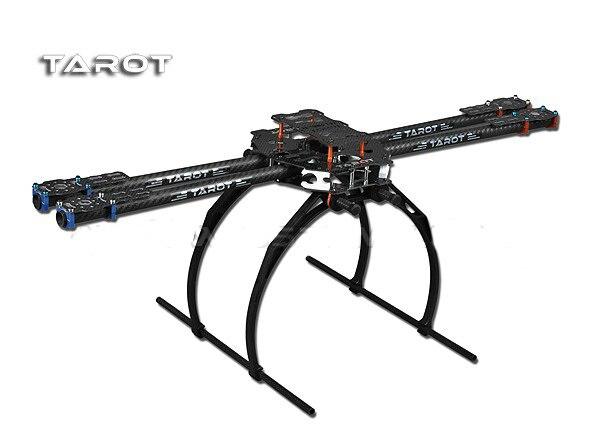 RCMOY 650 4 ejes plegable 3 K fibra de carbono tubos de aluminio Kit de Marco TL65B02 para aviones cuadricóptero