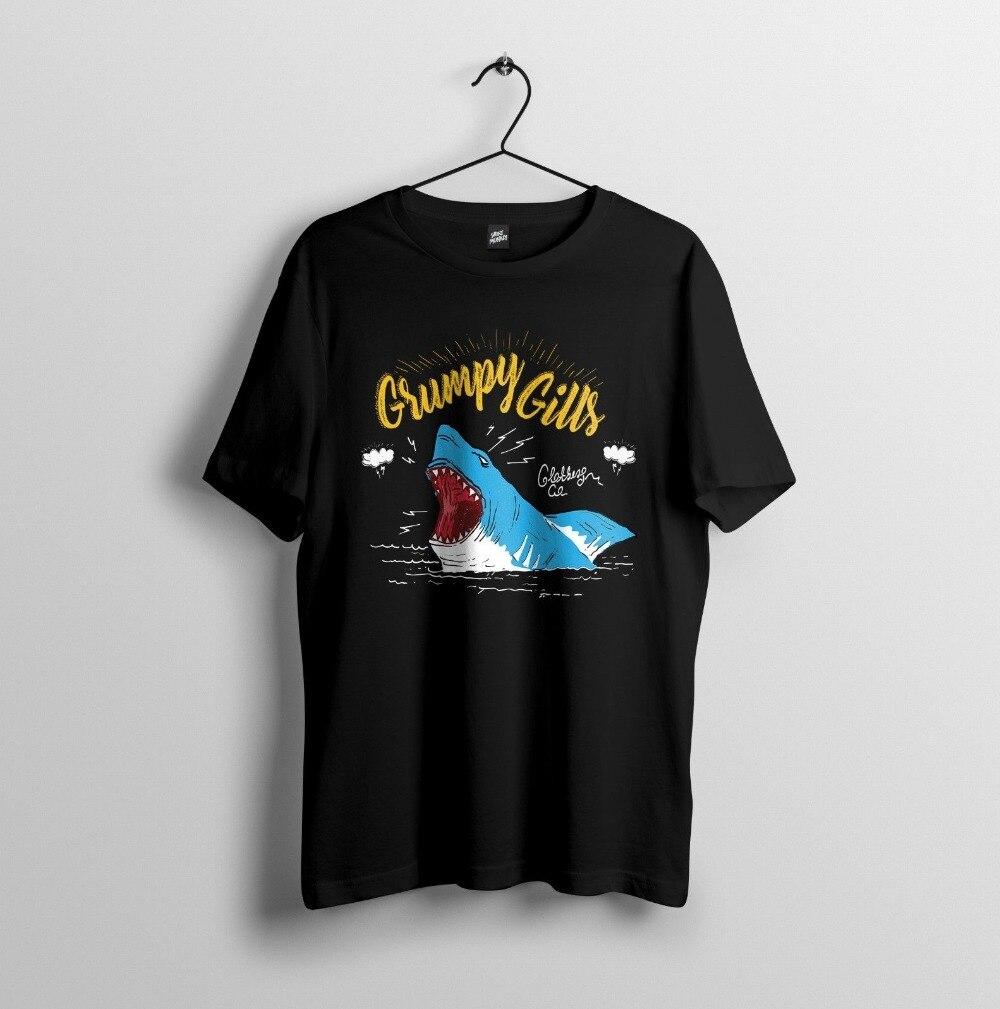 Remeras Grumpy Gills-divertidas Camisetas De Diseño de tiburón, para hombre, verano 2019 algodón, estilo de moda, Fitness, marca de películas