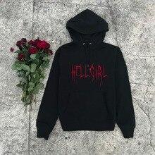Hell Girl-sweat à capuche esthétique, pull en coton goth, tendance, 90, tenue en coton pour femmes, style à la mode