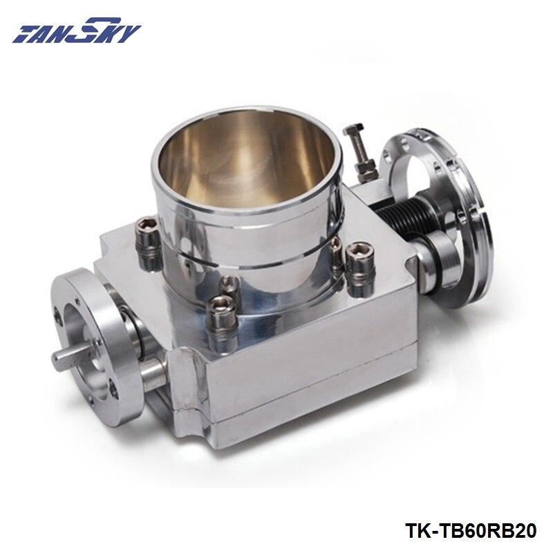 Para Nissan RB20 Universal de alto flujo de aluminio 60mm colector de admisión cuerpo del acelerador TK-TB60RB20