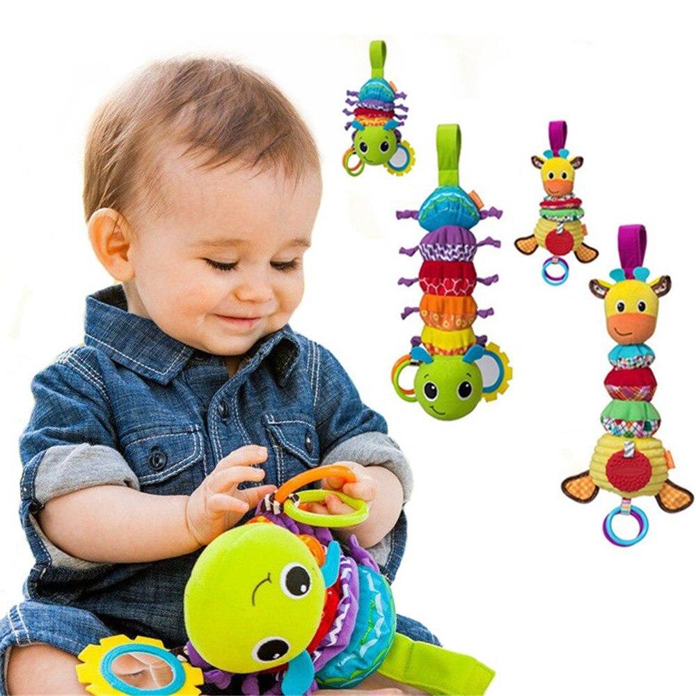 Bebê chocalhos adorável animal musical desenvolvimento brinquedo cama de pelúcia carrinho de bebê presente do bebê brinquedos macios chocalhos bonito macio bebê & criança brinquedo