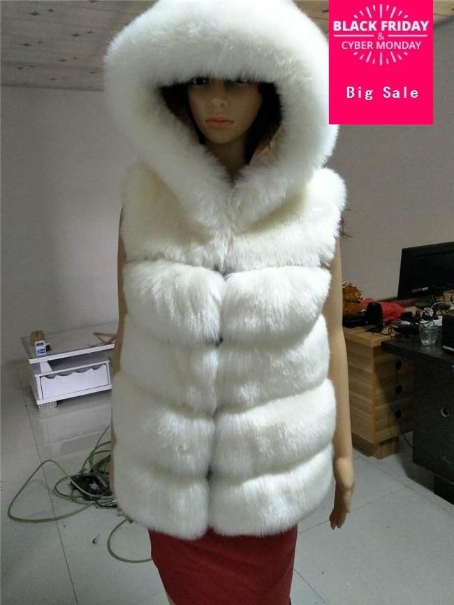 Nova Chegada 2017 Mulheres Moda Inverno Quente Faux Fur Colete Falso Casaco De Pele de Raposa Colete De Pele Colete Feminino Plus Size s-4XL w1701
