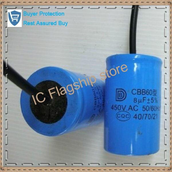 Máquina de lavar capacitor motor de arranque a capacit da execução capacitor CBB60 8 uf 450 vac