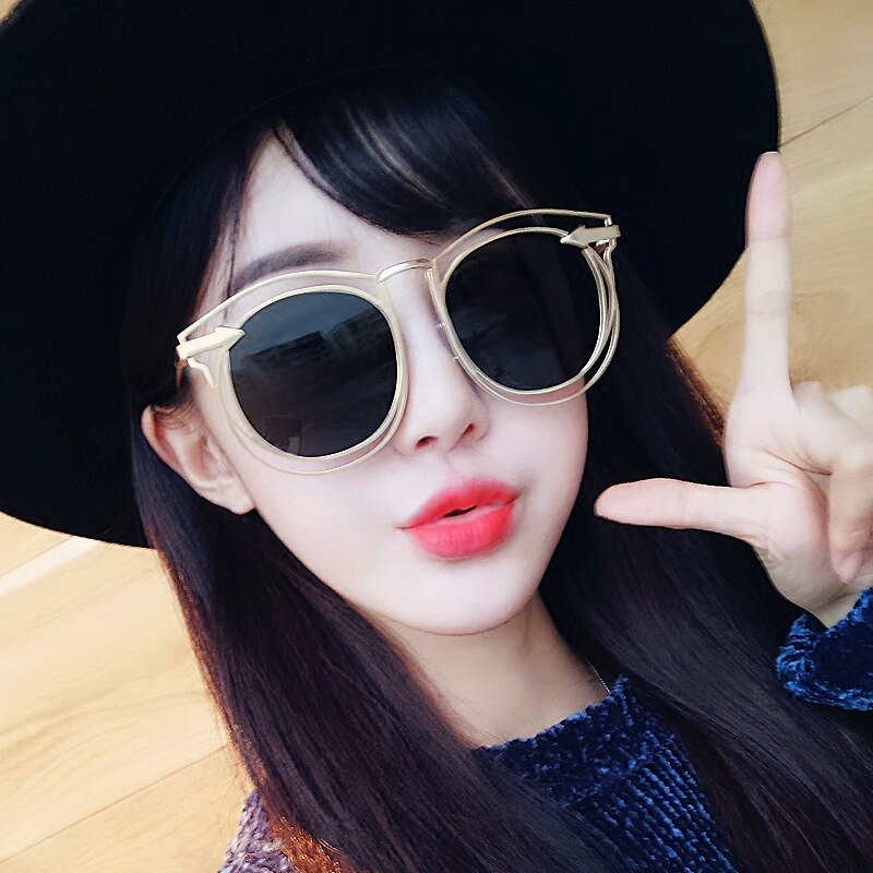 MXDMY Sunglasses women Accessories CatEye Style 2018 Brand Designer Fashion Shades black plastic UV4