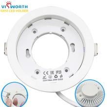 VisWorth Circolare GX53 Basi Della Lampada Materiale ABS di Alta Qualità GX53 Del Supporto LED Per Cabinet Lampada Con 9 CENTIMETRI Lunghezza Del Cavo