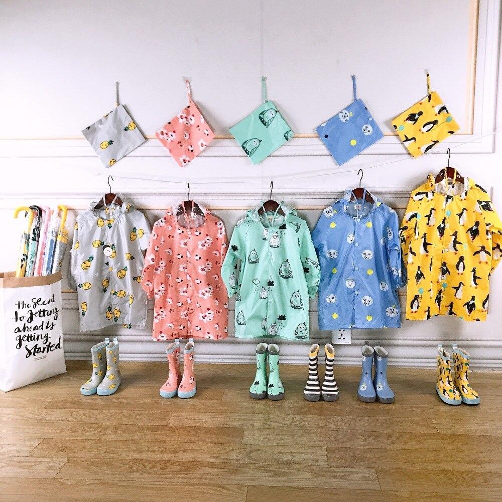 Celveroso ילדים חדשים קריקטורה עמיד למים גשם מעיל פוליאסטר בני בגדי אופנה מעיל גשם ילדי תינוק בנות מעיל מעיל Rainsut