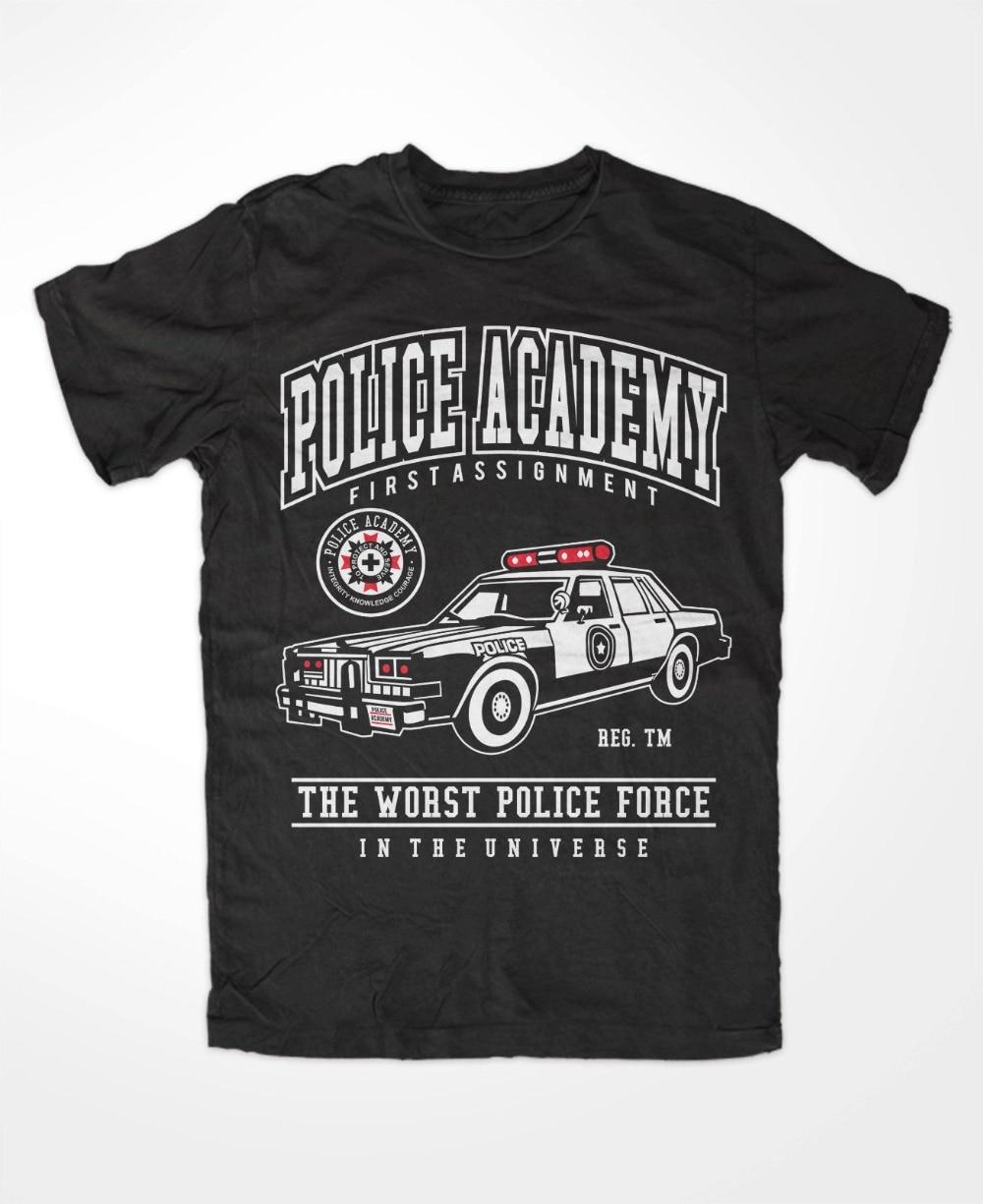 ¡Novedad de 2019! Camiseta divertida de academia de policía prémium para hombres, años 80, Lassard, Retro,Cop, comedia, película, Hightower