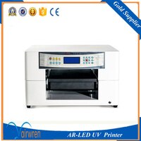 High Resolution Flatbad A3 Size UV Printer Inkjet Printing Machine For Phone Case Ceramic Tile USB Wood Golf Ball
