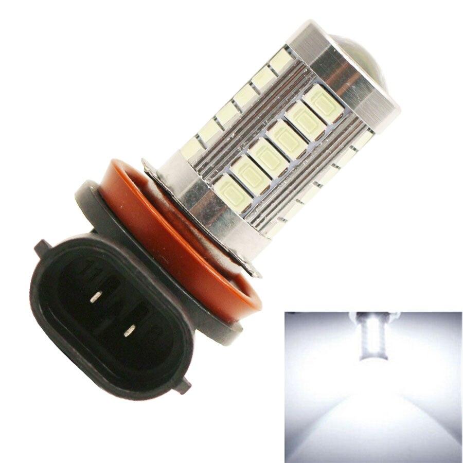 2 uds H8 H11 luces LED antiniebla 5630 SMD 33 LED luz antiniebla para coche Drving bombilla para Ford blanco hielo azul dc12v