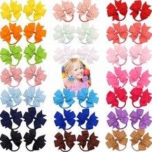 Nœuds de cheveux en ruban Grosgrin fille   40 pièces (20 paires), nœuds de cheveux pour petites filles, cravate élastique pour jeunes femmes et adolescents, Boutique