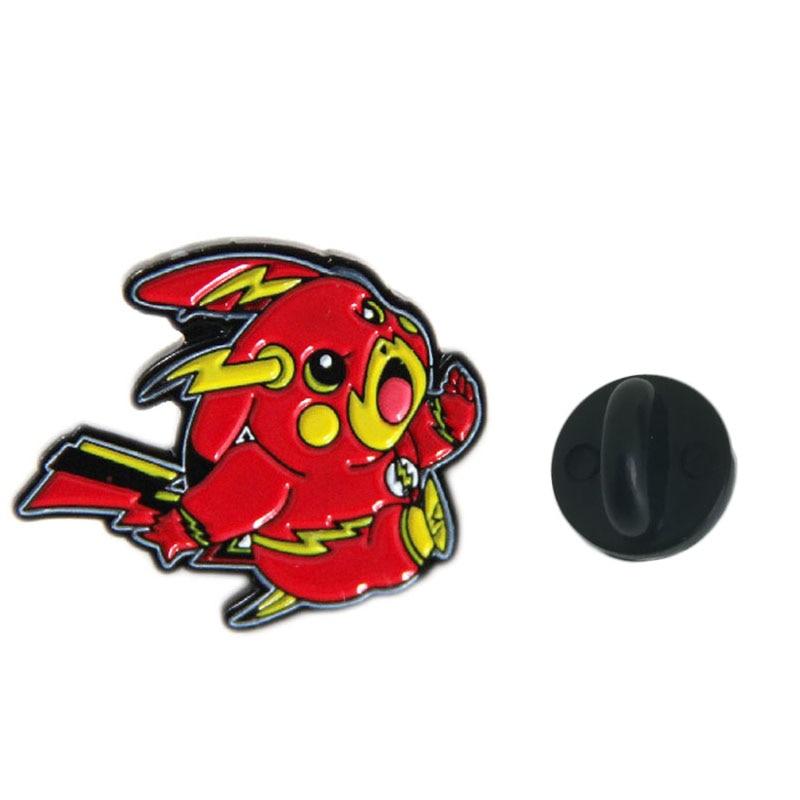 Cartoon Pikachu Brooch and Enamel Pin Cute Pokemon Lapel Pin Badge for Backpack Bags Shirt Hat