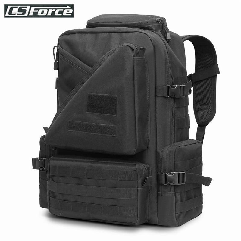 45 l mochila táctica de gran capacidad Paquete de asalto ejército militar al aire libre EDC Molle bolsa Trekking Camping caza senderismo mochila