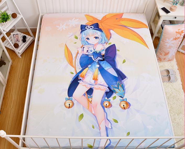 Funda de colchón de dibujos animados japoneses Shonen Onmyouji sábana ajustada cubrecama