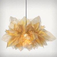 LukLoy Fabric Fairy Pendant Light Wedding Pendant Lamps Large Romantic Lace Loft Bedroom Suspension Hanging Lighting Fixtures