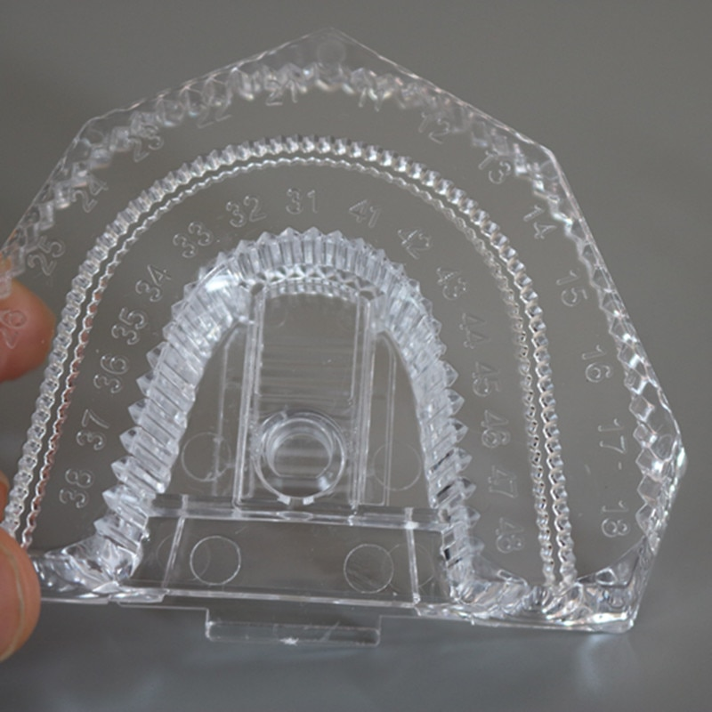 100 pçs/lote plástico descartável dental molde base de dentadura bandeja dental laboratório seccionado base kit transparente claro