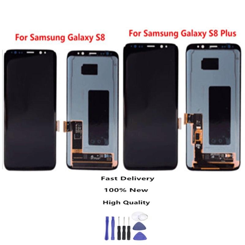 Original para Samsung S8 LCD sin marco de repuesto para SAMSUNG Galaxy S8Plus G955 S8 G950 G950F pantalla táctil digitalizador