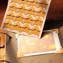 Autocollants coins Vintage Scrapbooking   Étiquette en papier kraft, Vintage, décoration pour album Photo, bricolage, 120 pièces/lot, livraison gratuite 604
