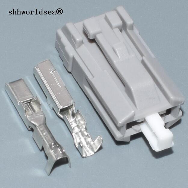 Shhworldsea 2pin para Toyota luces de freno enchufe puerta luz de matrícula cable conector sin sellado 7283-8123-40