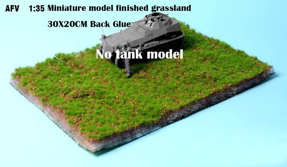 Modelo em miniatura terminou pastagem 30x20 cm cola traseira modelo militar cenário mesa de areia diy que faz o material