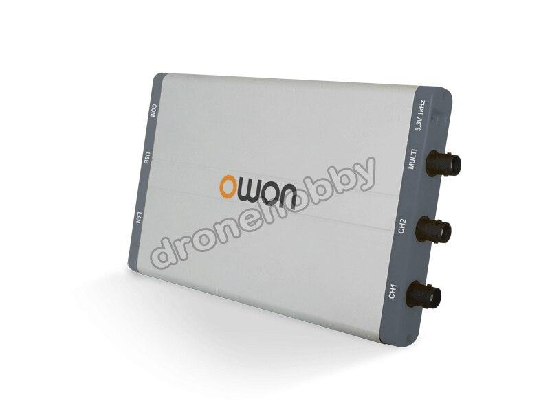 Freeshipping td owon vds 1022 virtual duplo-canal osciloscópio largura de banda de 100 ms/s 25 mhz 1g taxa de amostra 40 v