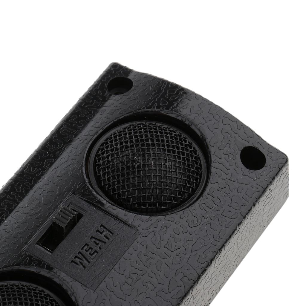 1 par de altavoces de Audio universales para coche, estéreo transparente, independiente, altavoz de doble triple, imán de neodimio, Tweeter para coche