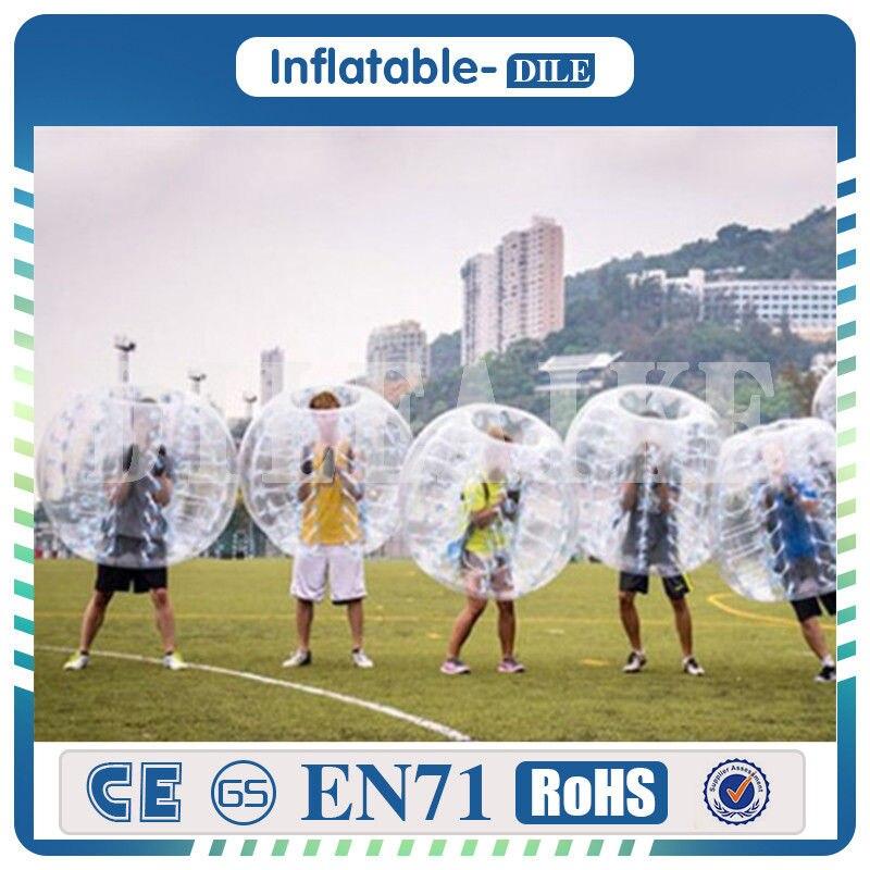 Pelota de fútbol inflable más nueva 100% TPU Dia 5 (1,5 m) bola de hámster humano, pelota de parachoques inflable para niños y adultos