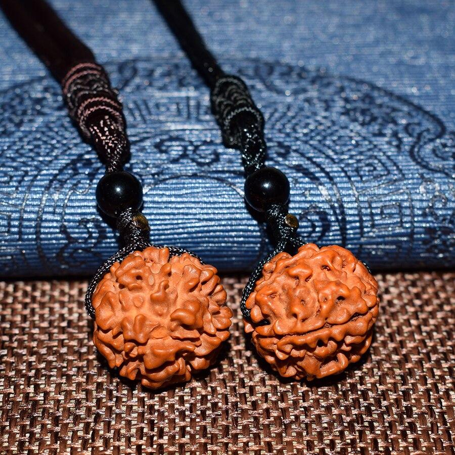 Купить с кэшбэком HOBBORN Classic Nepal Rudraksha Women Necklace Natural Beaded Handmade Men Buddha Meditation Necklaces & Pendants Charm Jewelry