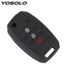 YOSOLO 3 Keys Silicone For KIA Sid Rio Soul Sportage Ceed Sorento Cerato K2 K3 K4 K5 Flip Folding Car Key Case Shell