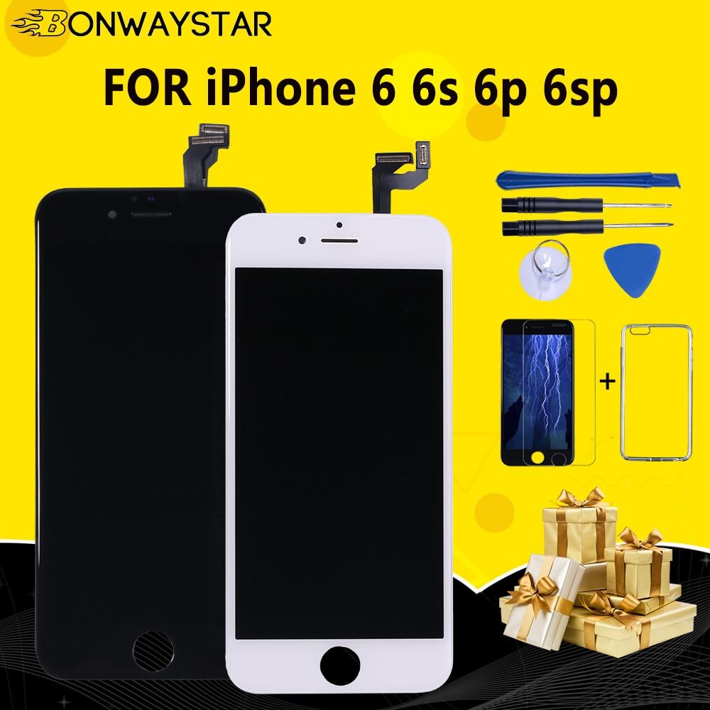 AAA + + + качество 100% хороший рабочий ЖК сенсорный экран стекло дигитайзер дисплей в сборе для iPhone 6 S Plus Бесплатная доставка + подарки
