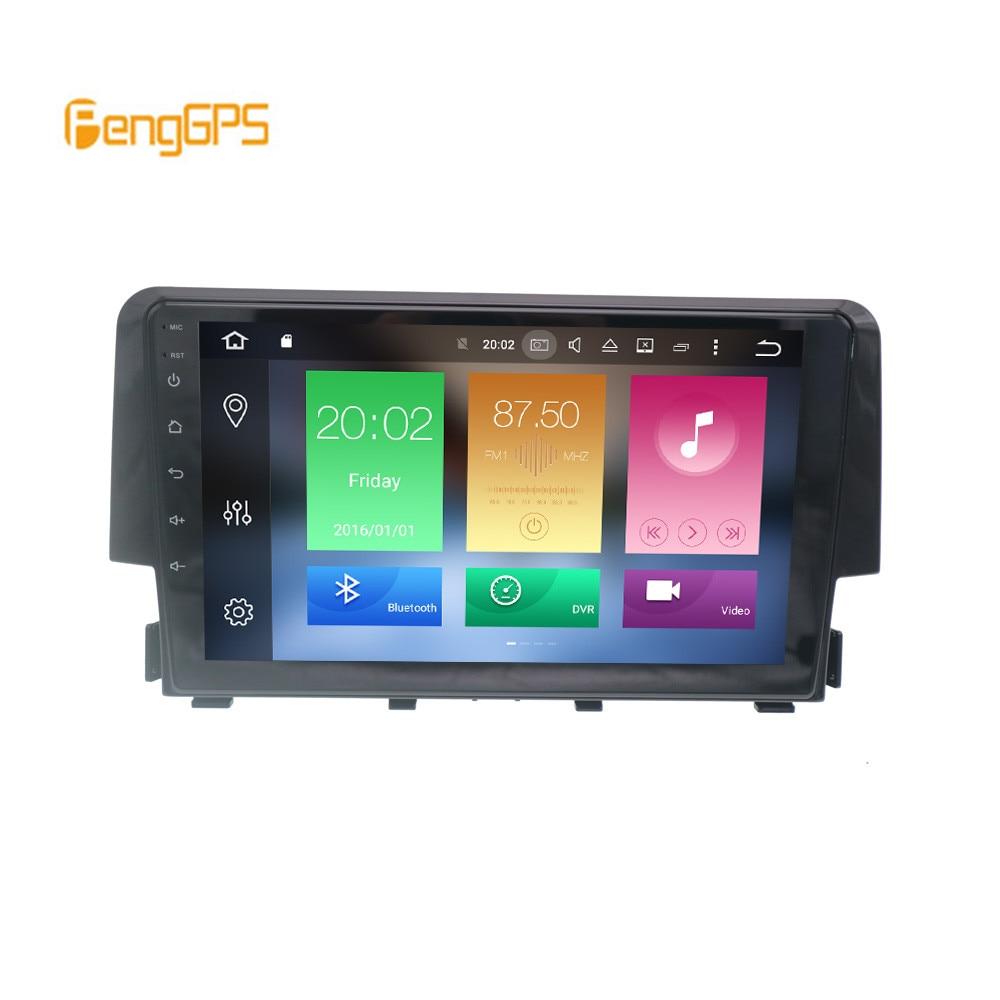 2 din 4 Гб + 64 г 8-жильное автомобильное радио GPS Android 9,0 для Honda Civic 2016 2017 2018 навигация PX5 DSP головное устройство Мультимедиа Стерео