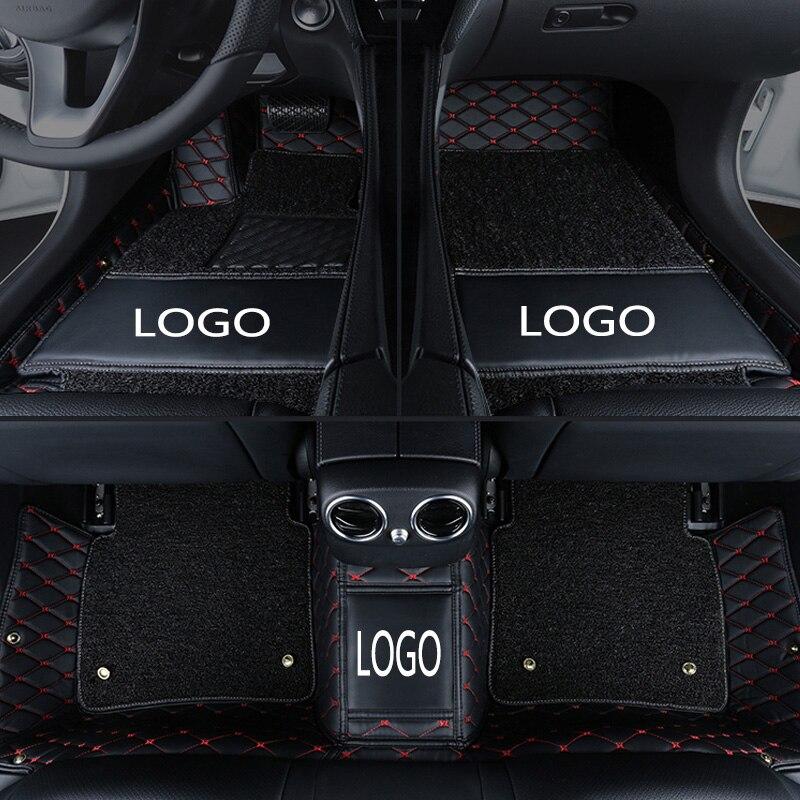 Personalizado logotipo do carro esteiras do assoalho do carro para LEXUS IS250 IS200t IS-C IS300 IS300H IS350 capa de couro Anti-slip tapete