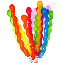 10 pcs/pack gonflable mariage fête danniversaire ballon décoration enfant jouets filetage Latex ballon flotteur Air balles