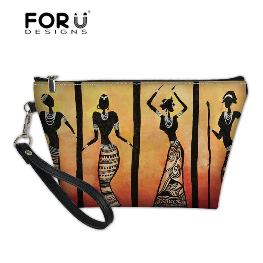 FORUDESIGNS función Kit de lavado bolsas para mujeres africano Tribal danza impresión cosméticos fundas de señoras organizador bolsa de aseo almacenamiento