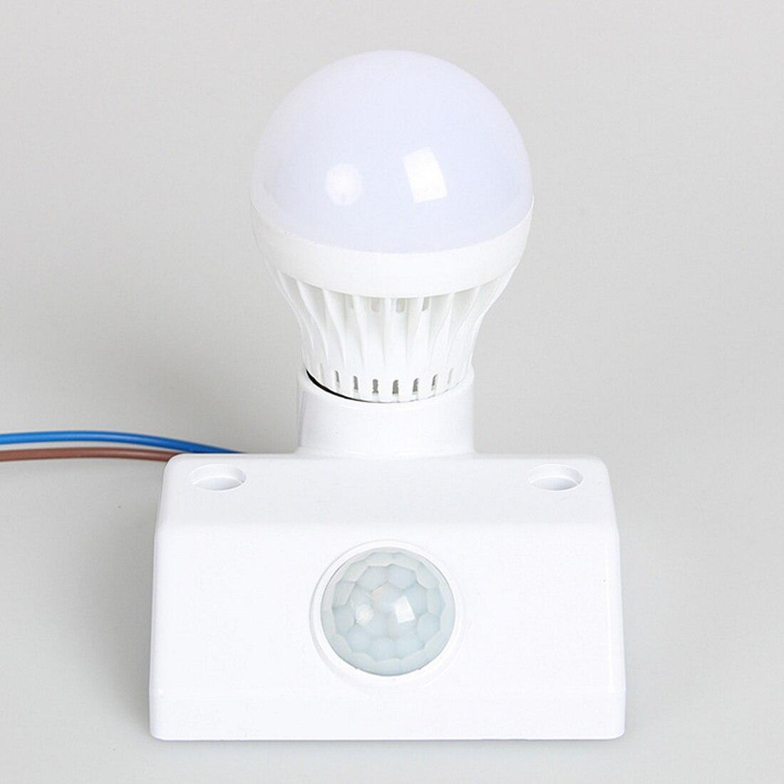 New E27 AC220 50/60HZ Infrared Motion Sensor Automatic Light Lamp Holder Switch Intelligent Light Motion Sensing Switch