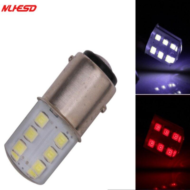 2х стробоскопическая вспышка 1157 BAY15D P21/5 W силиконовая лампа 2835 SMD 12 светодиодный Автомобильный задний светильник, тормозной светильник, парк...