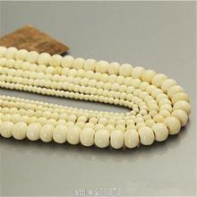 En gros 100 pièces main blanc Yak os chapelet perles en vrac 6/8/10/12mm Tibet OX os prière Mala perles TSB0015
