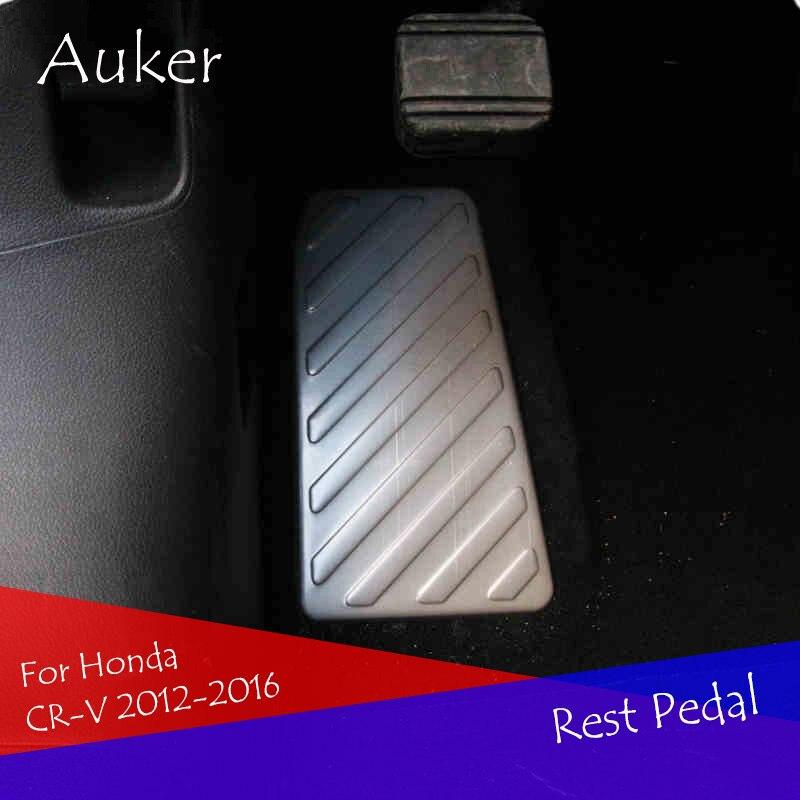Aço inoxidável apoio para os pés pedal placa acelerador acessórios interior do carro estilo do carro para honda CR-V crv 2012-2016