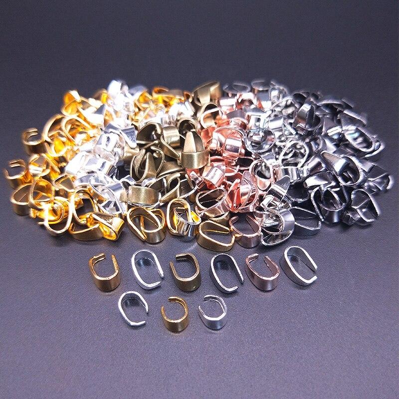 50 Uds., 7X4/9X5mm, collar, colgante, conectores, Clip, broche, pinza, gancho, hebilla, colgante, accesorios de joyería DIY