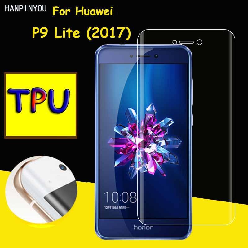 Full Coverage Clear Soft TPU Film Screen Protector For Huawei P9 Lite P9Lite 2017 5.2