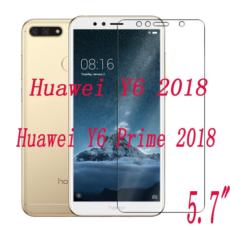 2PCS Tempered Glass  9H Explosion-proof Protective Film Screen Protector mobile phone for Huawei Y6