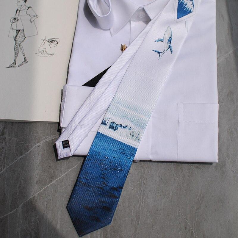 Neue Kostenloser Versand casual Männer der männlichen Shark Sky Fantasie 2 Serie Krawatte Verheiratet Hosting Westlichen Europäischen Party PARTY Geschenk krawatte