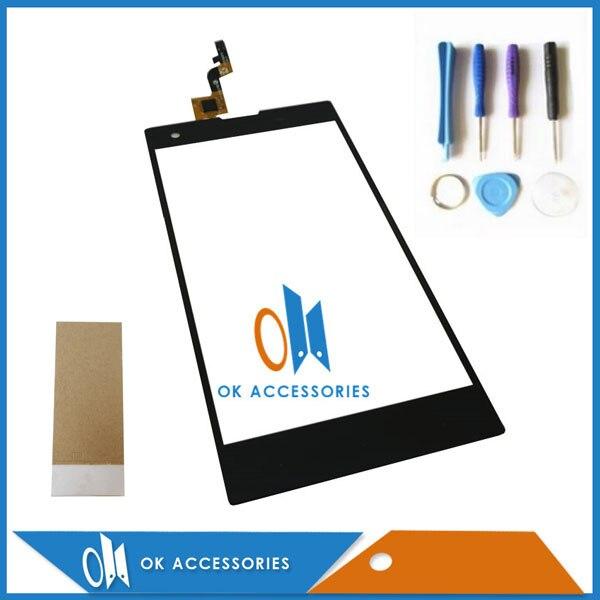 "5.0 ""Para Infinix Zero X506 Touch Screen Digitador Cor Preta 1 Pc/lote Com Ferramentas & Fita Adesiva"