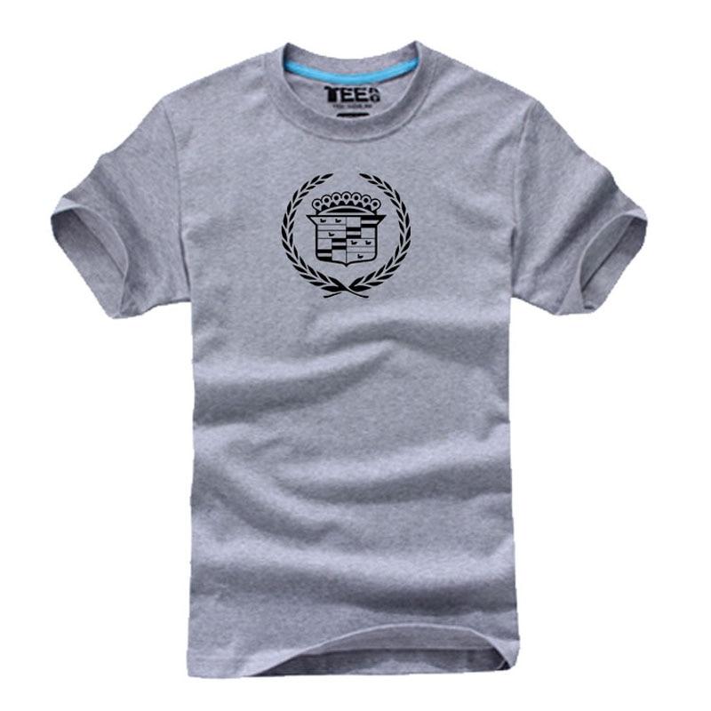 Camiseta informal de algodón con logo de Cadillac, pantalón corto de verano