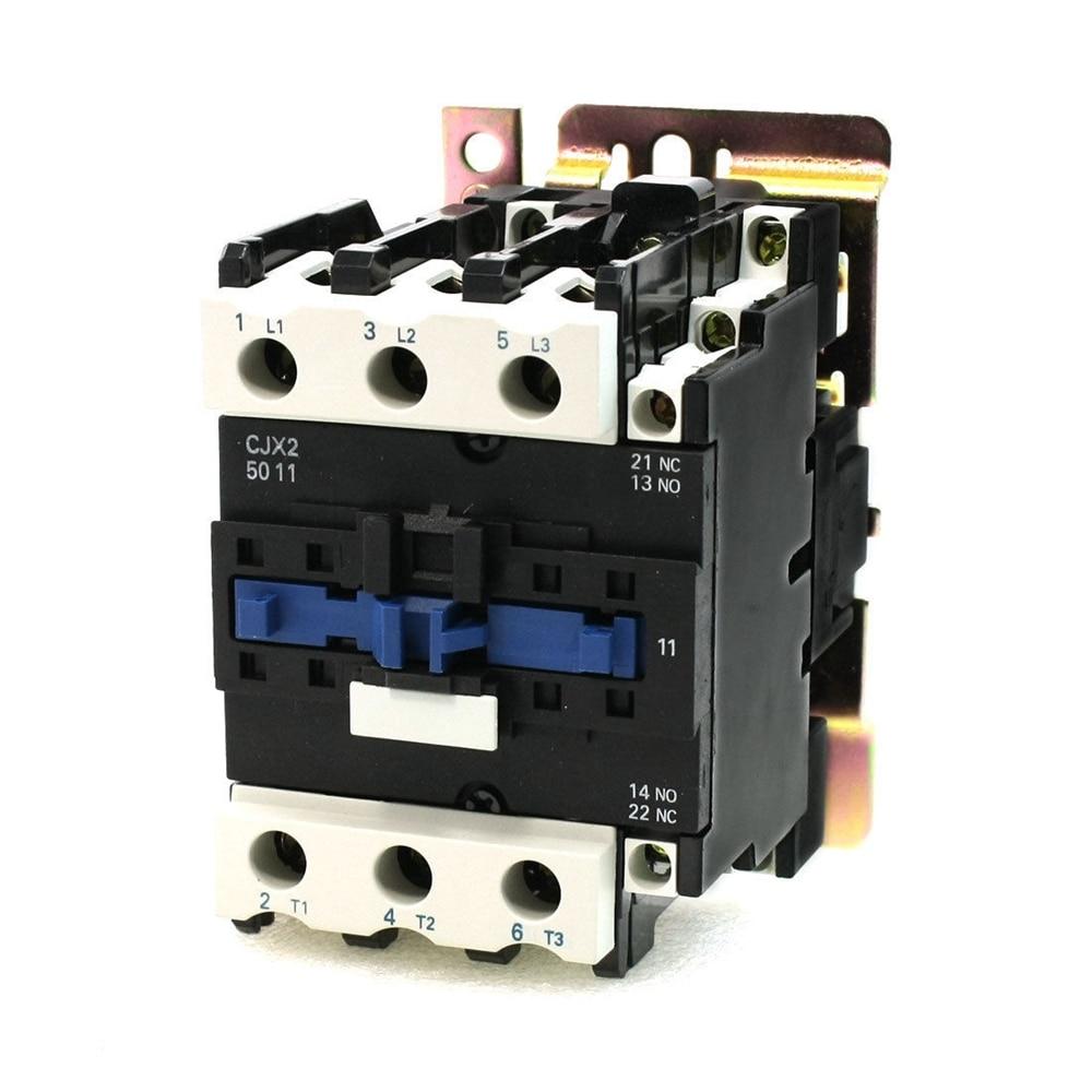 Corriente nominal 50A 3 polos + 1NC + 1NO 24V bobina de con 80A AC Contactor relé de arranque del motor de montaje en carril DIN