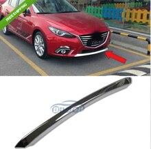 Garniture de calandre pour Grille avant   ABS Chrome, couvercle de pare-chocs pour Mazda 3 2014