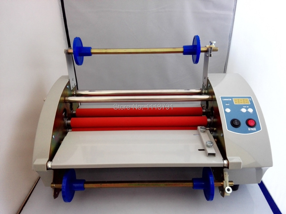 New TY360 Laminator  Hot Roll Laminating Machine electronic temperature control single and sided a heating mode enlarge