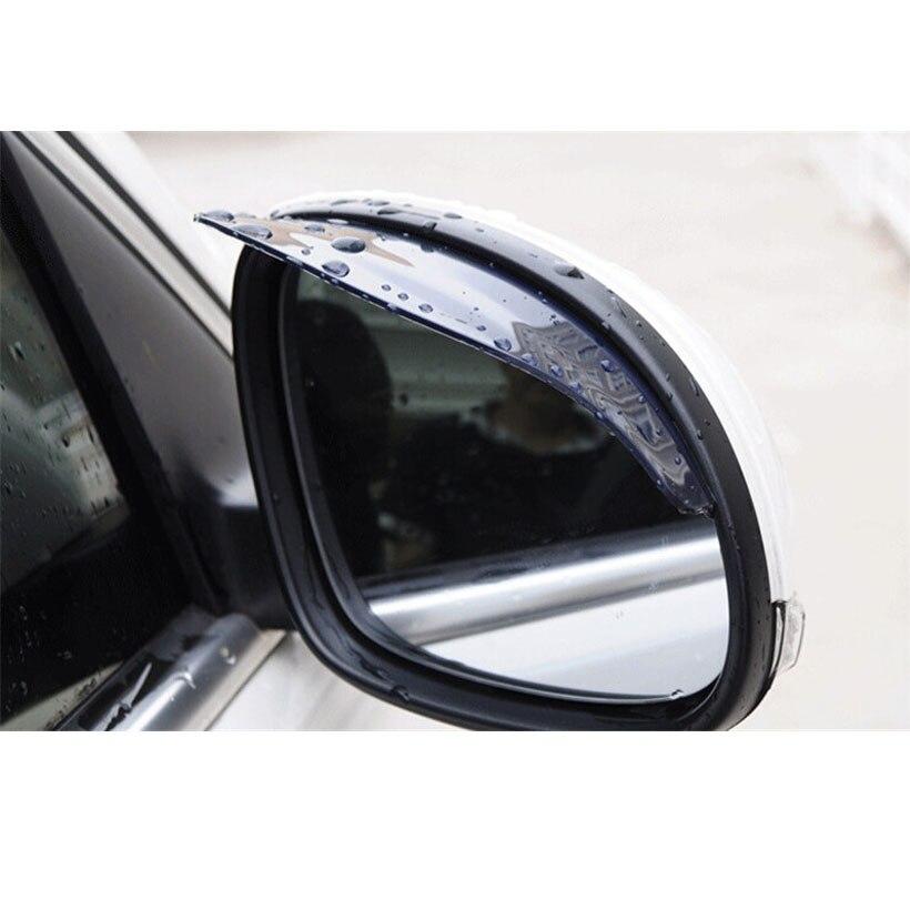 Universal 2 unids/par espejo retrovisor para coche lluvia ceja Visor protector de pantalla de agua para coche camión grueso automotriz suministros