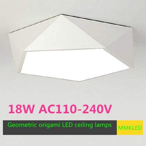 luminaria de teto de estilo geometrico luzes led de design criativo para economia