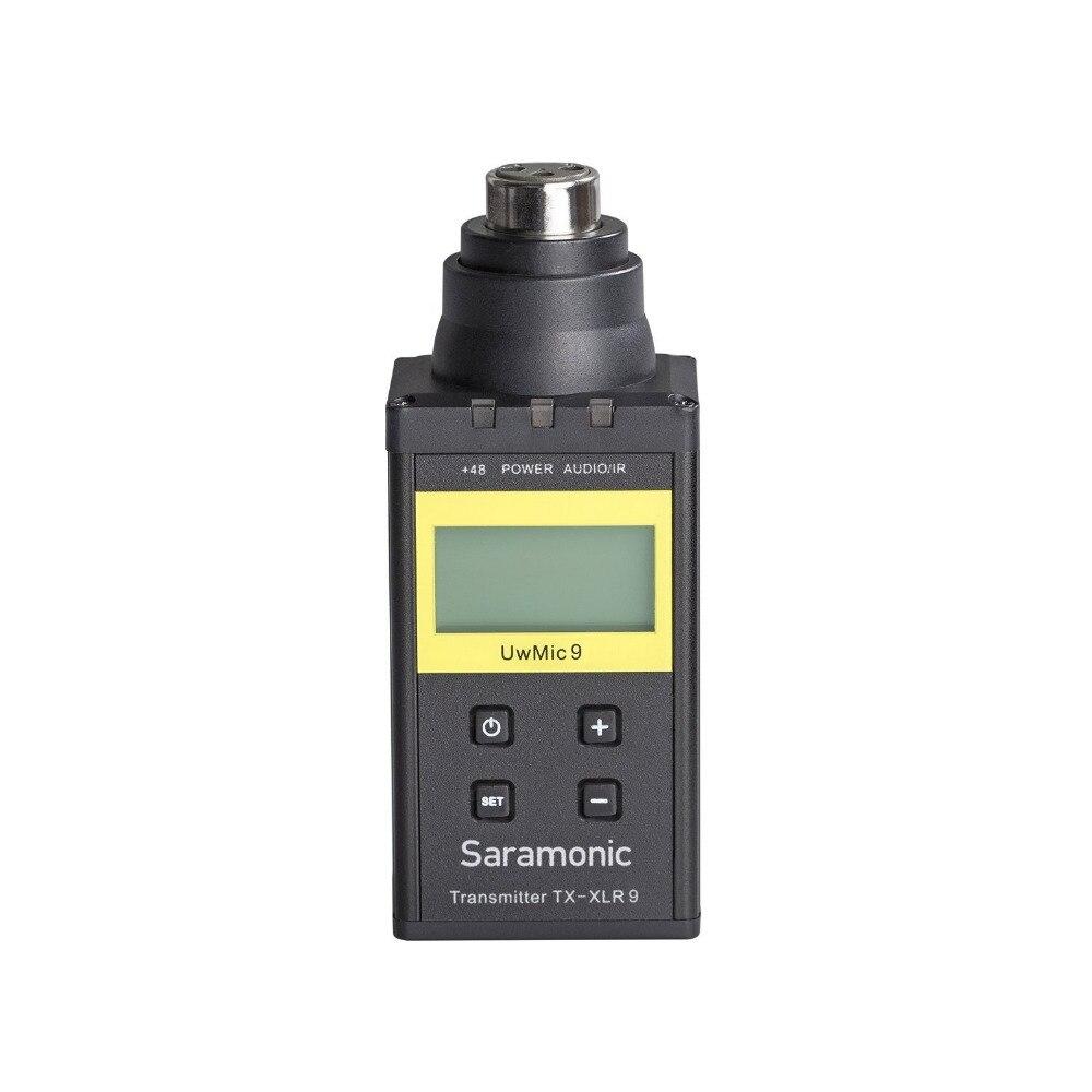Transmisor UwMic9-TX-XLR9 Saramonic con pantalla LCD Phantom Power para sistema de micrófono UwMic9, micrófono XLR