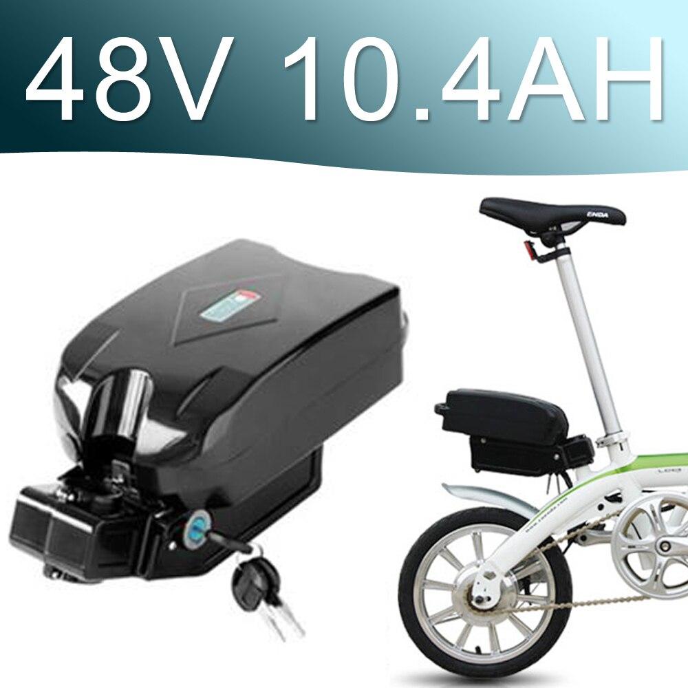 Batería de iones de litio 48 V 10.4Ah 500 W para batería trasera typ 48 V bicicleta eléctrica 48 v batería de Bicicleta electrónica